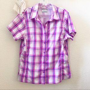 Columbia Omni-Shade plaid shirt